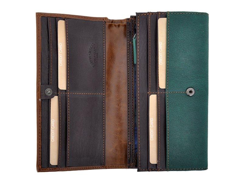 Harvey Miller Polo Club Women Leather Wallet/Purse Green-5353