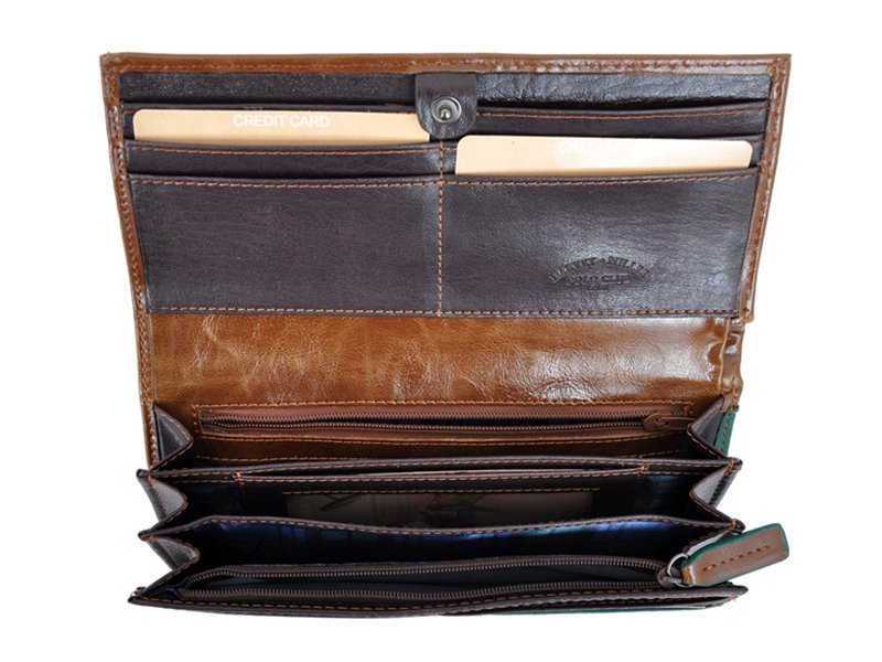 Harvey Miller Polo Club Women Leather Wallet/Purse Brown-5345