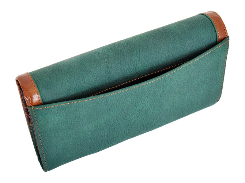 Harvey Miller Polo Club Women Leather Wallet/Purse Green-5357