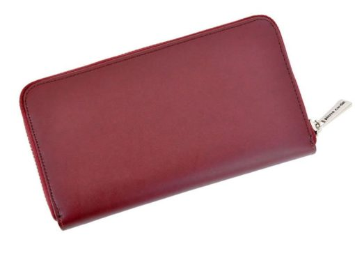 Pierre Cardin Women Leather Wallet with Zip Grey-5105