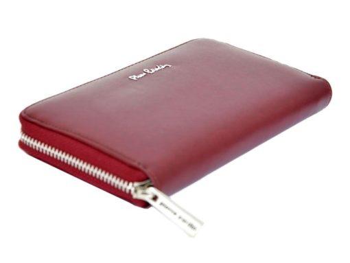 Pierre Cardin Women Leather Wallet with Zip Violet-5095