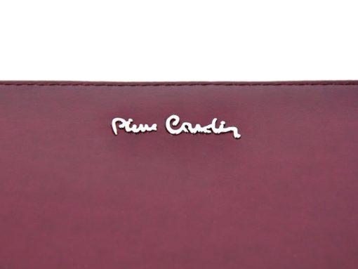 Pierre Cardin Women Leather Wallet with Zip Violet-5090