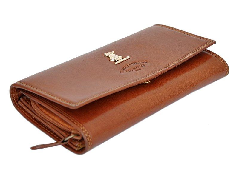 Harvey Miller Polo Club Women Leather Wallet/Purse Brown-5368