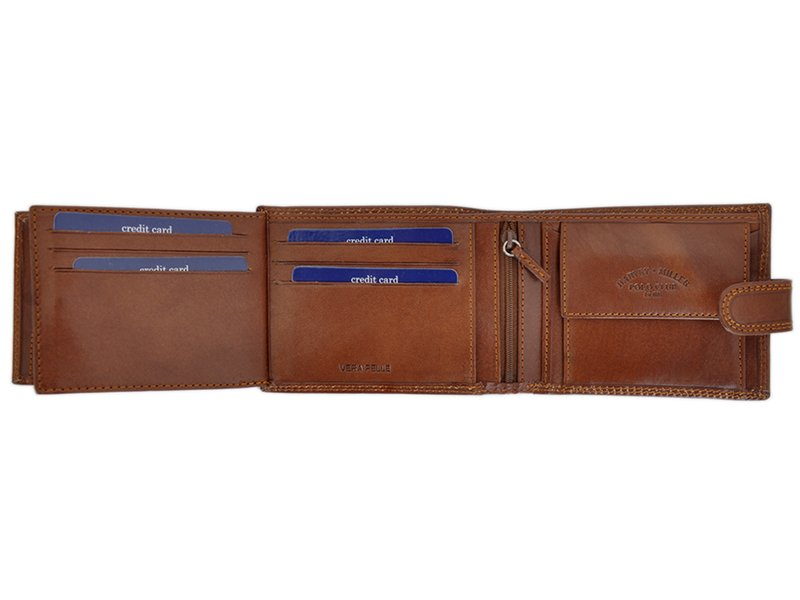 Harvey Miller Polo Club Man Leather Wallet Brown-5286