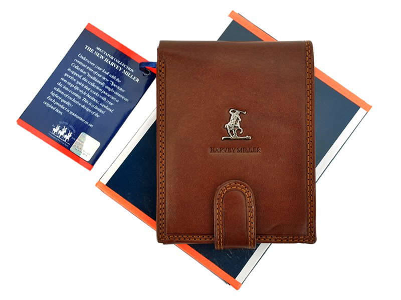 Harvey Miller Polo Club Man Leather Wallet Brown-5281