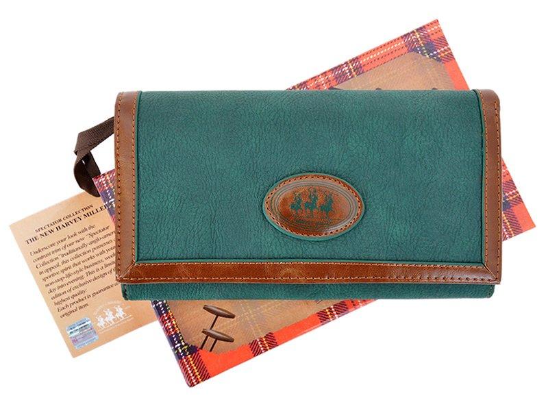 Harvey Miller Polo Club Women Leather Wallet/Purse Green-5351