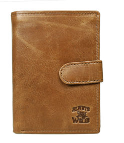 Always Wild Vintage Style Leather Wallet-6753