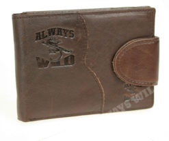 Always Wild Vintage Style Leather Wallet-6778