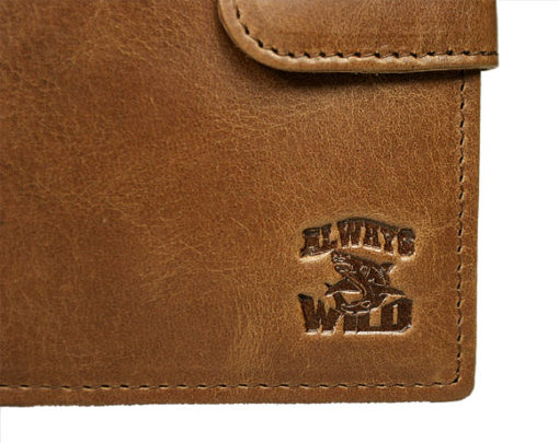 Always Wild Vintage Style Leather Wallet-6756
