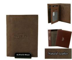 Always Wild Vintage Style Leather Wallet-6789