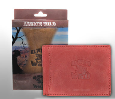 Always Wild Vintage Style Leather Wallet-6795