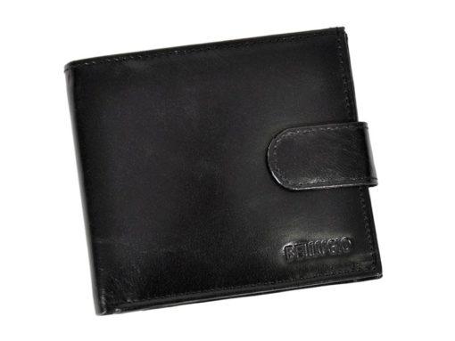 Bellugio Man Leather Wallet Black AM-21-213-6966