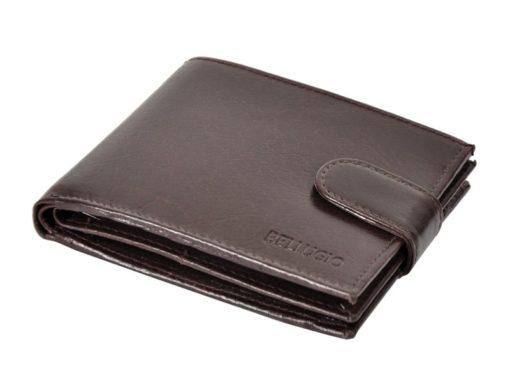 Bellugio Man Leather Wallet Black AM-21-213-6969