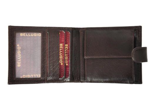 Bellugio Man Leather Wallet Black AM-21-213-6970