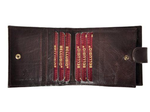 Bellugio Man Leather Wallet Black AM-21-213-6963