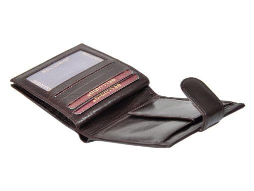 Bellugio Man Leather Wallet Black AM-21-213-6964