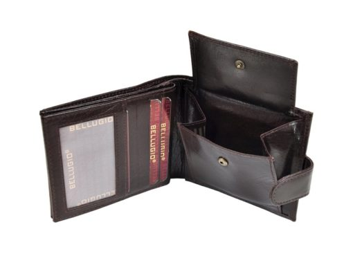 Bellugio Man Leather Wallet Black AM-21-213-6967