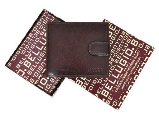 Bellugio Man Leather Wallet Black AM-21-213-6965