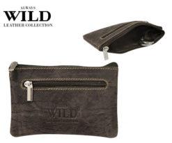 Always Wild Leather Keys Wallet Brown-7085
