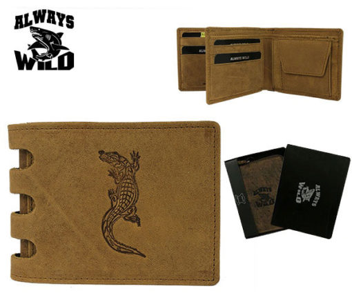 Always Wild Man Unique Leather Walletwith Chain-7069