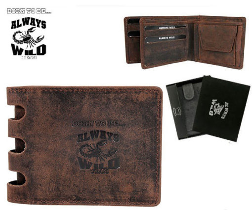 Always Wild Man Unique Leather Wallet-7065