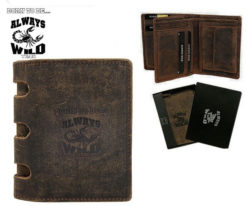 Always Wild Man Unique Leather Wallet-7059