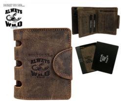 Always Wild Man Unique Leather Wallet-7057