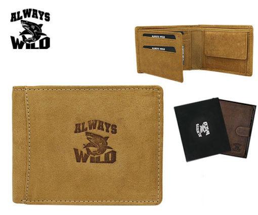 Always Wild Man Unique Leather Wallet-7061