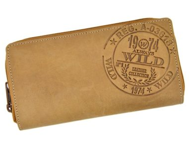 Always Wild Women Unique Wallet Tan-7261
