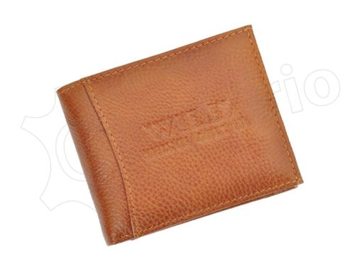 Medium Size Wild Things Only Man Leahter Wallet Light Brown-7175