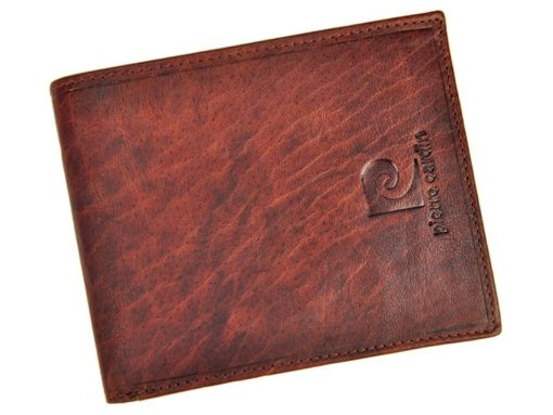 Pierre Cardin Unique Leather Wallet for Men Cognac-7241