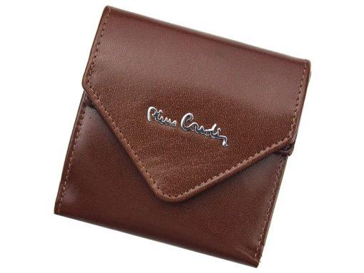 Pierre Cardin Unique Leather wallet small cognac-7246