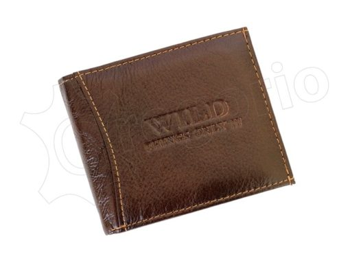 Medium Size Wild Things Only Man Leahter Wallet Light Brown-7171