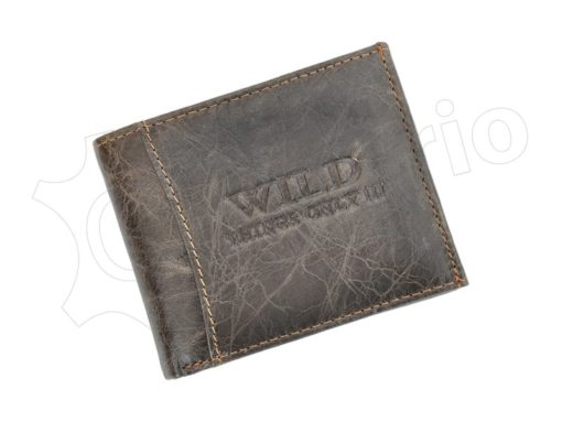 Medium Size Wild Things Only Man Leahter Wallet Light Brown-7181