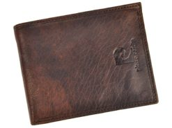 Pierre Cardin Unique Leather Wallet for Men Cognac-7240