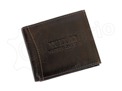 Medium Size Wild Things Only Man Leahter Wallet Brown-7168