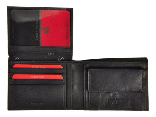Pierre Cardin Unique Leather Wallet for Men Cognac-7236