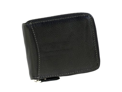 Wild Things Only Man Leahter Wallet with Zip Black-7139