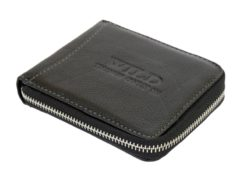 Wild Things Only Man Leahter Wallet with Zip Black-7131