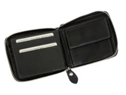 Wild Things Only Man Leahter Wallet with Zip Dark Brown-7125