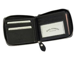 Wild Things Only Man Leahter Wallet with Zip Black-7138