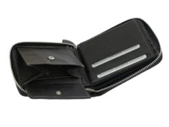 Wild Things Only Man Leahter Wallet with Zip Black-7129