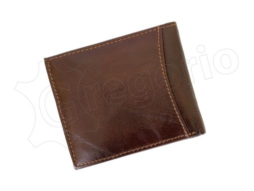 Medium Size Wild Things Only Man Leahter Wallet Brown-7167