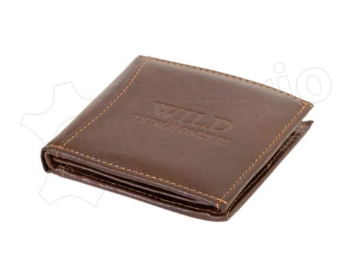 Medium Size Wild Things Only Man Leahter Wallet Light Brown-7174