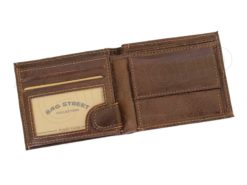 Medium Size Wild Things Only Man Leahter Wallet Light Brown-7172