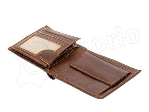 Medium Size Wild Things Only Man Leahter Wallet Light Brown-7170