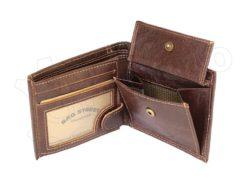 Medium Size Wild Things Only Man Leahter Wallet Brown-7164
