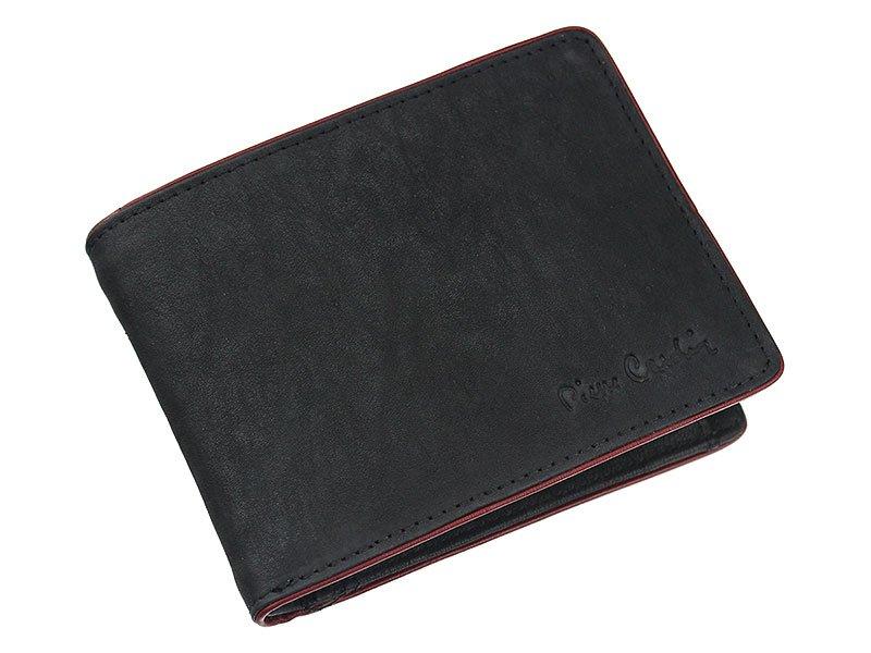 55ce58c43a6ab Pierre Cardin Man Leather Wallet Black Green Edge 05 Tumble 8806